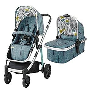 Cosatto Wow Pram and Pushchair, from Birth Carrycot and Pushchair Suitable upto 25 kg, Fjord Cosatto Includes: Chassis,Carrycot,Seat unit,Dock isize Car seat,Car seat adapters,Footmuff,Change bag, Raincover & 4 Year guarantee(UK and Ireland only) Compact fold Telescopic, leatherette handle and Handy one-handed recline. One-hand release carrycot, One-hand adjustable leg rest and Super-sized basket with handy compartments 12