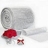 24 zeilen Crystal Bohren, party & hochzeit dekoration diy - kristall Netto (Silber)