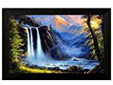 #10: Pintura Natural Waterfall Designer Painting with Wooden Frame (Frame Size 18