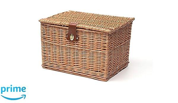 Cestino Panier osier rectangulaire, marron, XL