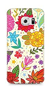 Amez designer printed 3d premium high quality back case cover for Samsung Galaxy S6 Edge (Texture Bright Colorful Pattern)