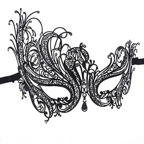 Oyedens Mode Luxus Elegant Metall Lamellens Halloween Ball Maskerademaske - Metall-lamelle