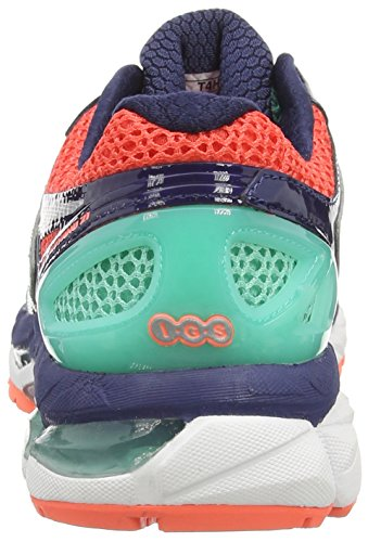 Asics Gel-kayano 21, Chaussures de Running Entrainement Femme Bleu (Aqua Mint/Silver/Indigo Blue 7093)