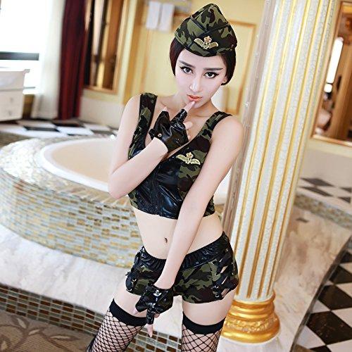 Roleeplay sexy Dessous, sexy Camo Frauen, Uniform, Spiel, Rollenspiele, Ds, Nachtclub, Leidenschaft, F (Sexy Camo Outfits)