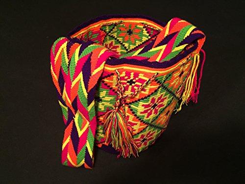Imagen de  wayuu  bolso cruzados de algodón para mujer large, color multicolor, talla large alternativa