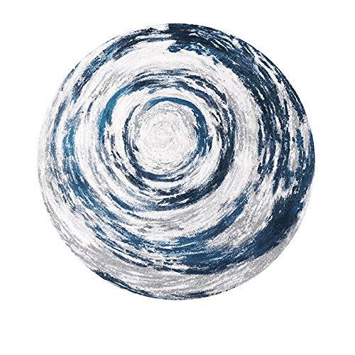 ZCXBB Runder Teppich Moderner minimalistischer Windkorb Drehstuhl Wohnzimmer Schlafzimmer Matte Arbeitszimmer Garderobe IKEA (Color : Blue, Size : XL) - Runde Garderobe