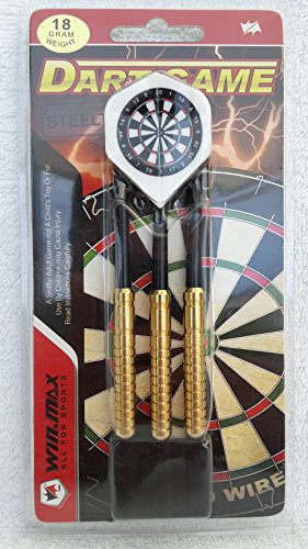 set di freccette in acciaio blister 3pezzi peso 18gr punte in metallo, ideale per l' allenamento
