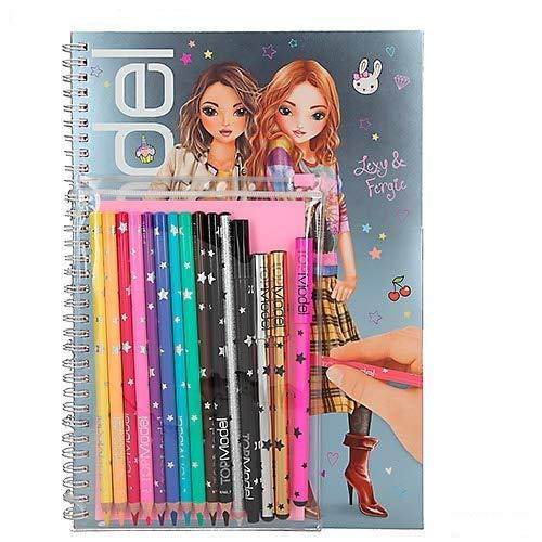 TOPModel 8760Libro da colorare con matite Set