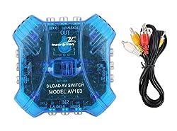 Premium Quality 3 in 1 AV Audio Video Selector Switcher Switch Box Spliter A/v Multi Input Output