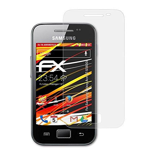 atFoliX Pellicola Proteggi per Samsung Galaxy Ace GT-S5830i Protezione Pellicola dello Schermo, Rivestimento antiriflesso HD FX Protettore Schermo (3X)