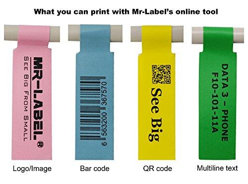 Mr-Label (20 hojas, 600 etiquetas) Autoadhesivo Etiqueta del cable - a prueba de agua | Resistente a la rotura | Durable - con la Herramienta de impresión en línea gratuito (Amarillo)