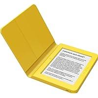 """Bookeen Saga Jaune - Liseuse E-Ink avec éclairage - Ecran 6"""" 1024x758-8 Go - Couverture intégrée en Silicone- Douce au Toucher et Ultra-résistante"""