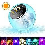 SunTop Lluci piscina solare, galleggiante Luce solare, Colore Cambiando Impermeabile LED luci giardino solari galleggiante stagno luce per Partito, Laghetto, Piscina, Fish Tank, Giardino Decorazione