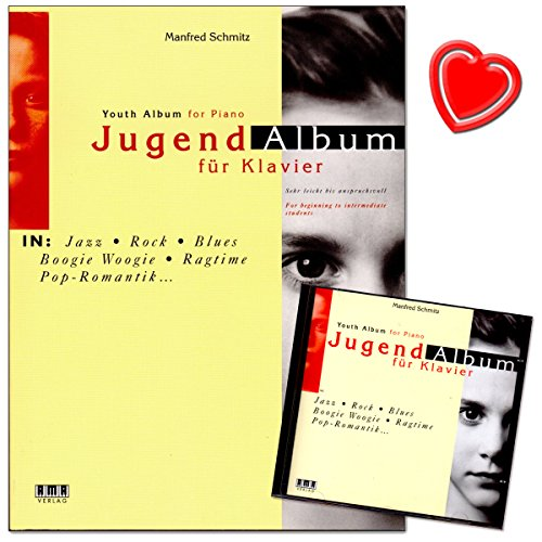 Jugend-Album - eine Sammlung attraktiver Spielstücke für Klavier in aktuell populären Musikstilen - Notenbuch mit CD und herzförmiger Notenklammer - AMA Verlag - 610234-9783932587412