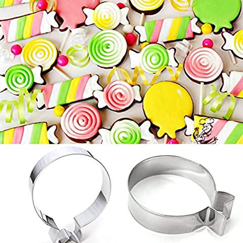 Aliciashouse Palloncino tondo in acciaio inox di Cookie Cutter biscotto decorazione stampo da (Divertimento Cookie Cutters)