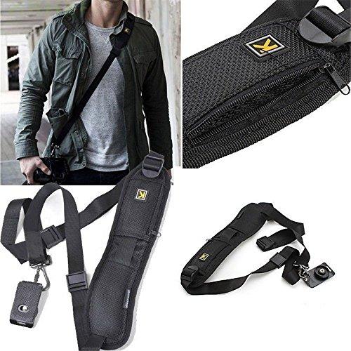 Kingnew verstellbarer Schultergurt Extended Sling Kameragurt Gürtel für DSLRs, schwere Kameras DSLR SLR und Ferngläser - Pentax Speicherkarten