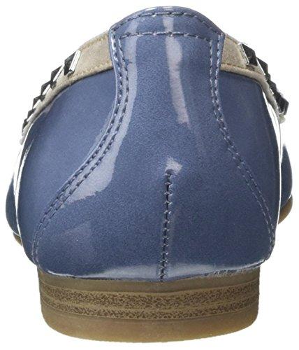 Marco Tozzi 22113, Ballerines Femme Bleu (Denim Comb 853)