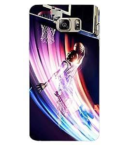 ColourCraft Basket Ball Design Back Case Cover for SAMSUNG GALAXY NOTE 6