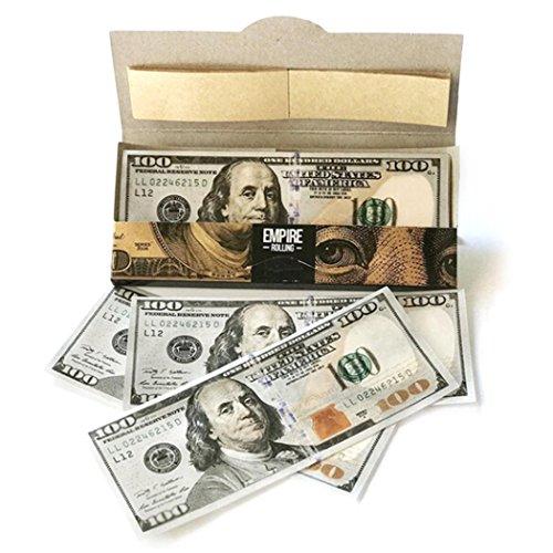 swiftt DIY Kreative Zigarettenpapier,Empire $ 100 Smoking Rollpapier Premium Zigaretten Rolling Paper (10stk, 4.4