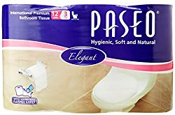 Paseo Tissues Toilet Roll 3 Ply - 300 Pulls (12 Rolls)