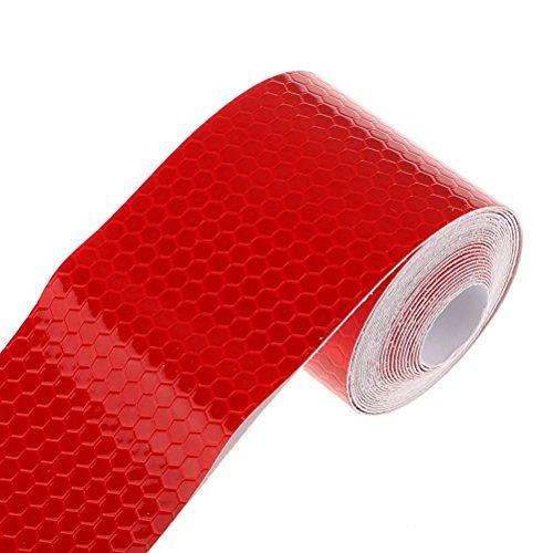 Pixnor nastro riflettente 3m adesivo pellicola nastro conspicuity avviso di sicurezza riflettente (rosso)