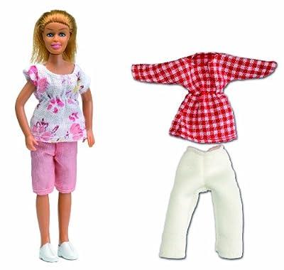 Lundby Småland 60.8045.00 - Figura de madre con conjunto de ropa adicional para casa de muñecas (escala 1:18) [importado de Alemania] por Lundby