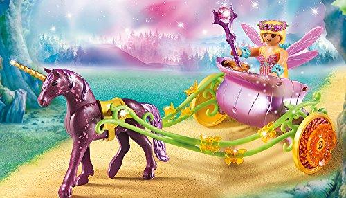 PLAYMOBIL-Fairies-set-en-2-parties-9133-9136-Bateau-romantique-des-fes-Fleur-Fe-avec-licorne-carriage