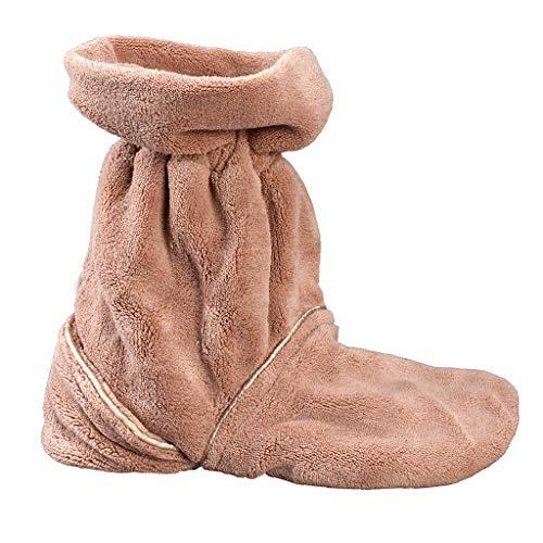 Wärmeschuhe für die Mikrowelle | Aufheizbare Hausschuhe | Idealer Fußwärmer im Winter | Beheizbare Socken & Fußheizung elektrisch Alternative (Damen Mikrowellen Pantoffeln)