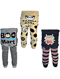 Backbuy 3 pantalones 0-24 meses para bebés niños leggings pantalones de punto G3G4G5