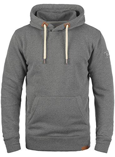 !Solid TripHood Herren Kapuzenpullover Hoodie Pullover Mit Kapuze Und Fleece-Innenseite, Größe:L, Farbe:Grey Melange (8236) -