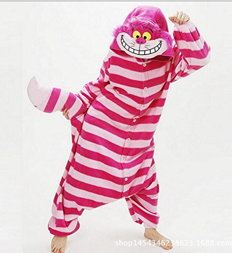 MH-RITA Großhandel Tier Stitch Einhorn Panda Bär Koala Pikachu Body nach Unisex Cosplay Kostüm Schlafanzug Nachtwäsche für Männer, Frauen, Cheshire Cat, (Cheshire Kostüm Cat Herren)