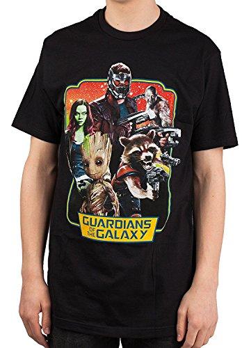 Marvel Guardians Of The Galaxy 2 Vintage Frame T-shirt (Medium, Black)