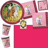 Bibi Und Tina Party-Set 53tlg. für 16 Kinder : Teller Becher Servietten Tischdecke