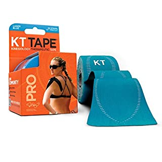 KT TAPE PRO, Pre-cut, 20 Strip, Synthetic, Laser Blue