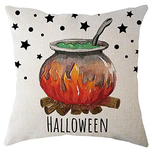 Gaddrt Kissenbezug Halloween Kürbis Kissenbezug Quadratischer Wohnkultur 45x45cm - Baby Ghost Kostüm Kissenbezug