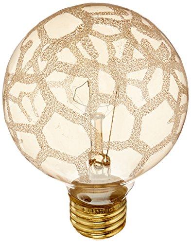 bulbrite 40G25/MAR Crystal Collection Glühlampen G25Globe Light mit Marmor-Finish und Medium Boden, 40Watt, Bernstein, bernsteinfarben 40 wattsW 120 voltsV (Mar-finish)