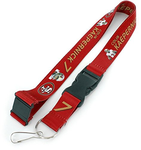 aminco NFL San Francisco 49ers Colin Kaepernick Spieler Action Lanyard (Armband 49ers)