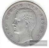 Deutsches Reich Jägernr: 46 1907 D sehr schön Silber sehr schön 1907 5 Mark Otto Bayern (Münzen für Sammler)