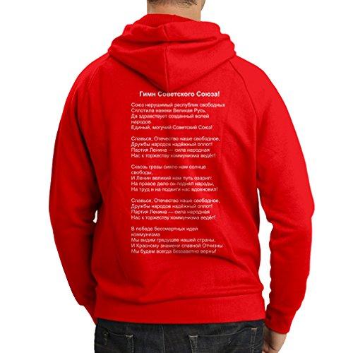 Felpa con cappuccio Camicia di bandiera russa camicia ???? Unione Sovietica Rosso Multicolore