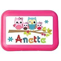 wolga-kreativ Brotdose Lunchbox mit Name Eule Eulenfamilie und Wunschmotiv mit Trennsteg Viele Motive preisvergleich bei kinderzimmerdekopreise.eu