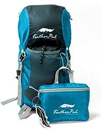 Shacke - 35L Mochila De Peso Ligero / Mochila Para Excursionismo Y Viaje - Envasable Y Plegable Resistente Al Agua (Verde Azulado)
