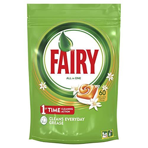 Fairy Todo En 1 Cápsulas de Lavavajillas Naranja