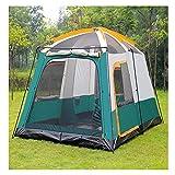 Tenda da Campeggio per Gruppi familiari 5-8 Persone Tenda da Esterno Impermeabile Pieghevole Portatile da 200 cm Altezza di Picco - con Un Soggiorno,1