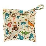 Single Zipper Baby Stoffwindel Tasche waschbar wiederverwendbare Baby Stoffwindel Tasche mit Tiere Muster von TheBigThumb