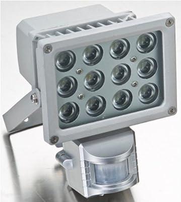 LED Außenstrahler 12 x 1 Watt Power LED mit Bewegungsmelder