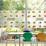 PVCOLL Fensterfolien Glasfolieglasaufkleber Konditorei Bäckerei Glasschiebetür Dekoration Fenster Film Scrub Free Plastic Static Delicious Dessert, 80 * 120 cm