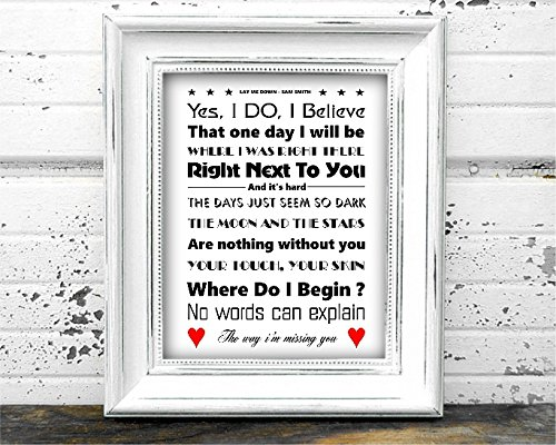 lay-me-by-sam-smith-monocromatico-a4-lyrics-poster