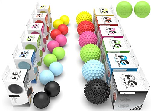 Professional-Massage-Balls-Lacrosse-Ball-Set-or-Spiky-Roller-BEST-Foot-Massager-Acupressure-Deep-Tissue-Trigger-Point-Plantar-Fasciitis-Reflexology-Stress-Therapy-Myofascial-Release-E-Guide