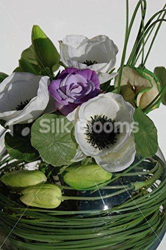 Kunstblumen, Echt Touch, Tulpe &Anemone Goldfischglas/Display