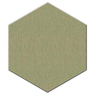 FrankenArt Akustikschaumstoff PolySound Akustik Schaumstoffe aus Basotect® WollFilz Stoff - kaschiert in Hexagon-Form Größe L - Durchmesser Ø45cm - Stärke 3cm - Farbe: 0042 weißgrün